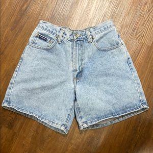Vintage Z Cavaricci blue jean denim shorts Sz 26